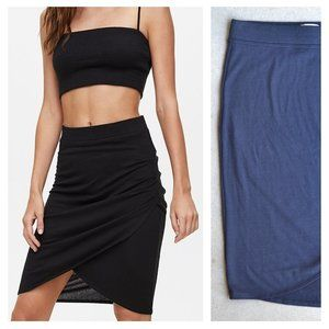WILFRED FREE | Aritzia Tyra Skirt Ruched | Sz. S